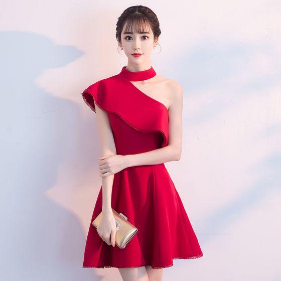 Vestidos Rojos Cortos Con Manga Vestidos De Coctel 2019
