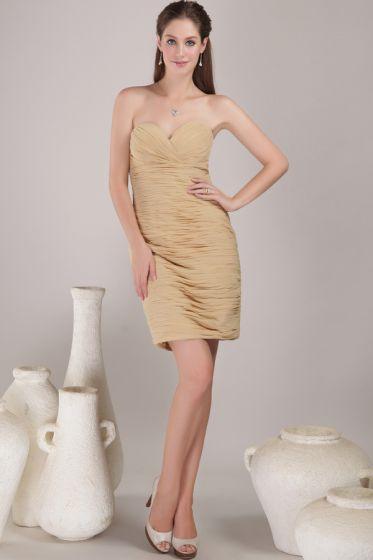2015 Charming Sheath Chiffon Short Cocktail Dress