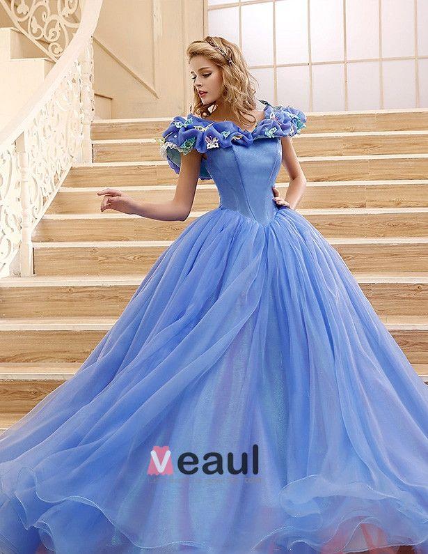 2015 Movie Jurk Cinderella Volwassen Kostuum Galajurk