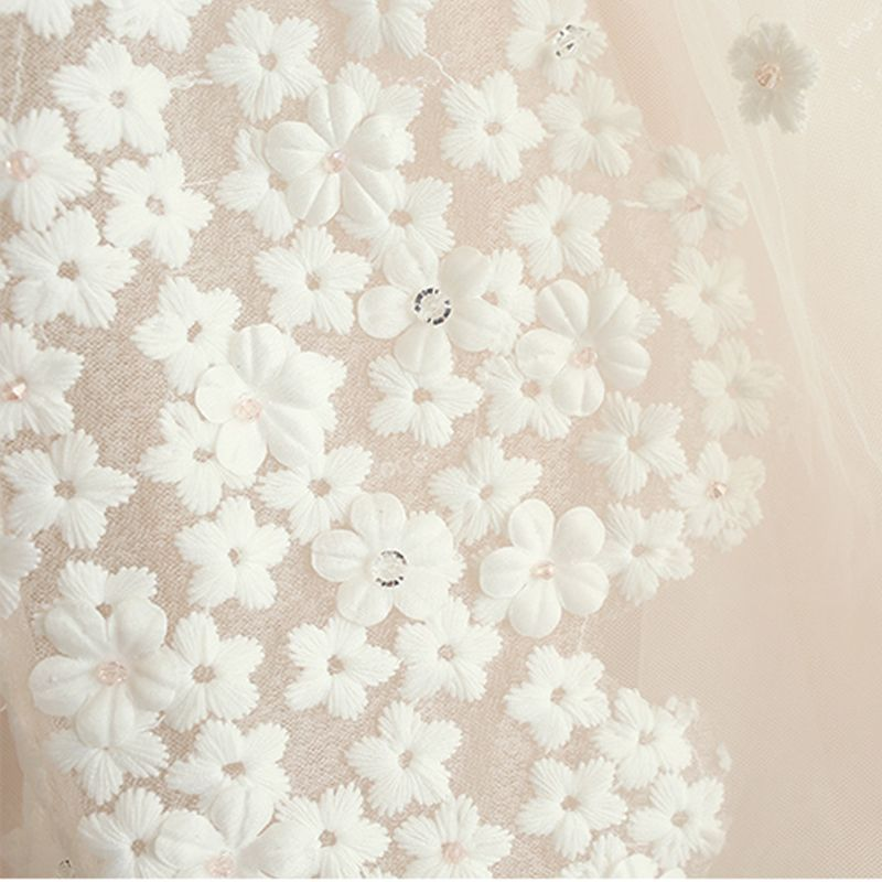 Elegante Champagner Geschwollenes Brautkleider 2018 Ballkleid Applikationen V-Ausschnitt Ärmellos Kathedrale Schleppe Hochzeit