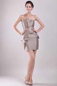 2015 Classic Sleeveless Trägerlosen Kurzen Cocktailkleid Partykleid