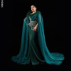 Robe de soirée verte