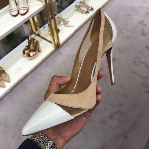 Modest / Simple Ivory Office OL Pumps 2020 Suede 9 cm Stiletto Heels Pointed Toe Pumps