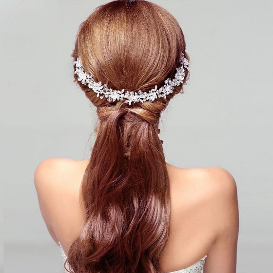 Krystal Blonder Rhinestone Krystal Blad Den Brude Headpieces / Hoved Blomst / Bryllup Hårpynt / Bryllup Smykker