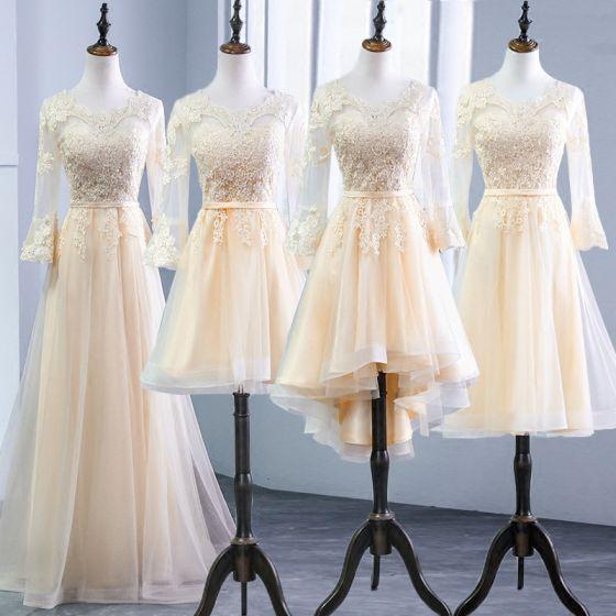Vestidos para damas de honor manga larga