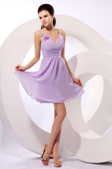 2015 Graceful Chiffon Elastic Woven Satin V-neck Zipper Bridesmaid Dresses