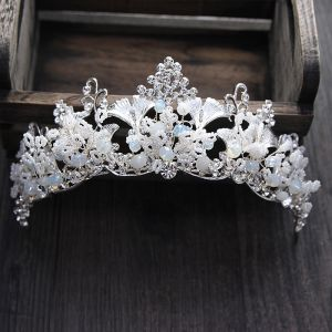 Amazing / Unique Silver Bridal Jewelry 2017 Metal Beading Crystal Rhinestone Wedding Prom Accessories