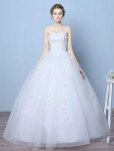 Elegante Brautkleider 2016 Ballkleid Schatz Spitze Fußbodenlänge Hochzeitskleider