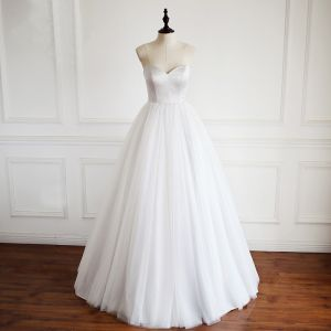 Simple Argenté Robe De Bal 2018 Princesse Amoureux Dos Nu Sans Manches Longue Robe De Ceremonie