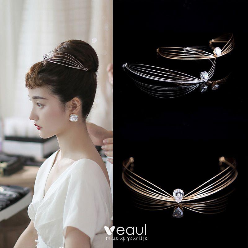 Wedding Vintage Style Hair Accessories: Audrey Hepburn Style Vintage / Retro Bridal Hair