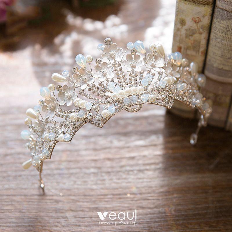 Modern / Fashion 2017 Silver Rhinestone Metal Tiara Bridal Jewelry