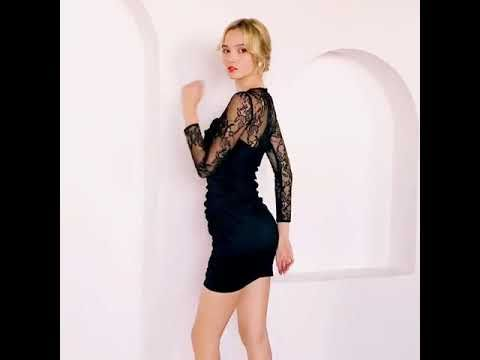 Sexy Zwarte Avondjurken 2019 Ronde Hals Appliques Kant Lange Mouwen Korte Gelegenheid Jurken