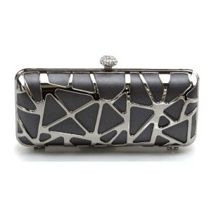 Mode Holle Metalen Avondtasje Versie Van De Dames Clutch Tas Bag