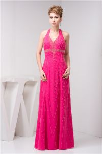 2015 Charming V-neck Halter Beading Empire Evening Dress