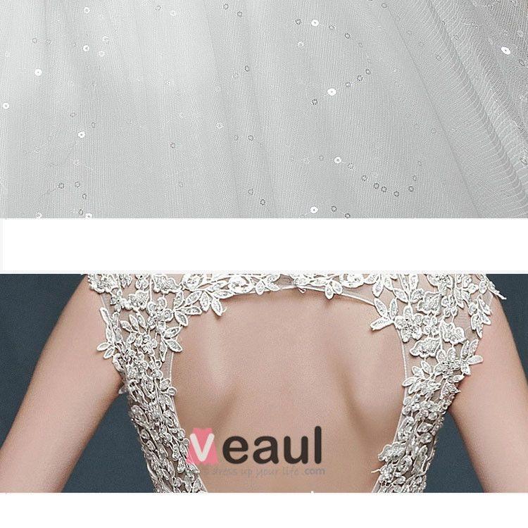 Dubbel Skuldra Mode Puff Klänning Ungdom Sot Brudklänning
