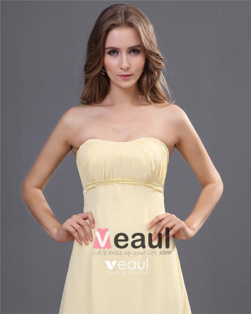 Elegant Empire Sweetheart Ankle-Length Chiffon Bridesmaid Dress