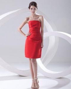 Trägerlosen Ausschnitt Oberschenkel Länge Sleeveless Gefaltetes Taft-frau Abendkleider