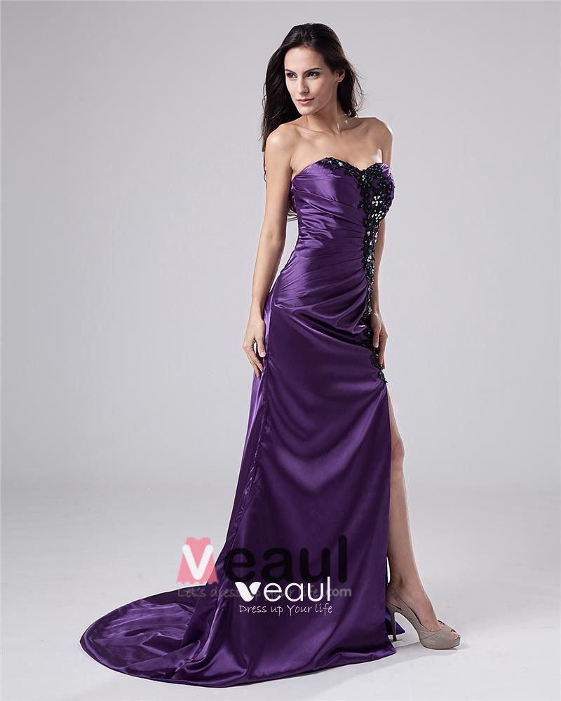 Charmeuse Sweetheart Beads Floor Length Evening Dresses