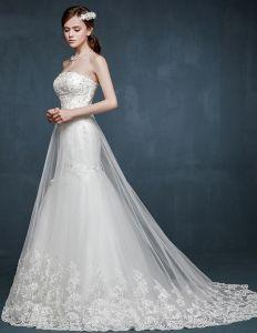 L'elegance De Style De Fuite Robe De Mariée De Mariée