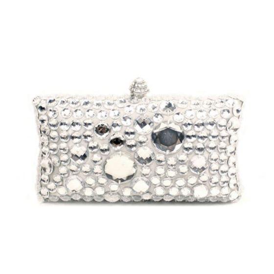Acryl Strass Mode Vierkante Doos Avondtasje Handtas Clutch Bag