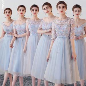 Beautiful sky Blue Bridesmaid Dresses 2018