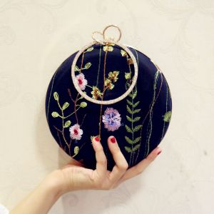 Chic / Beautiful Navy Blue Embroidered Clutch Bags 2018
