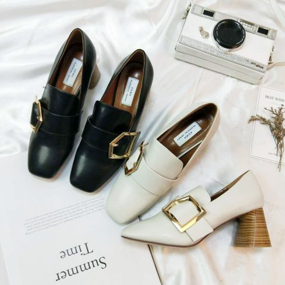 Vintage Black Casual Womens Shoes 2018