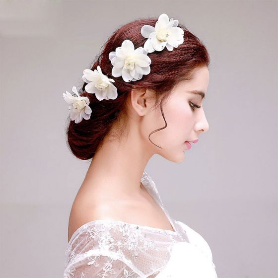 Strass Fleur La Coiffe De Mariée / Dentelle Tete Fleur / Accessoires De Cheveux De Mariage / Bijoux De Mariage