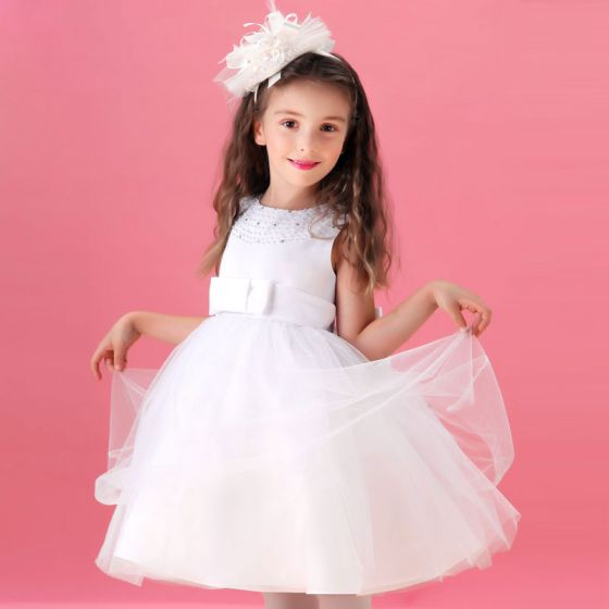 White Flower Girl Dress Princess Dress