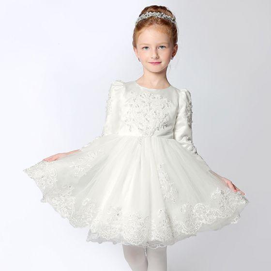 Schöne Kleider Für Hochzeit 2017 Mädchenkleider Weiß Kurze ...