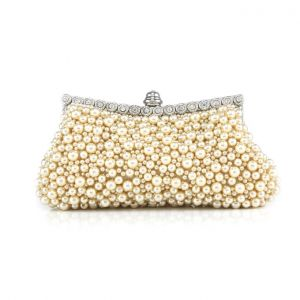 Sweet Retro Dinner Clutch Bag Handmade Beaded Clutch Bag Chain Small Bag