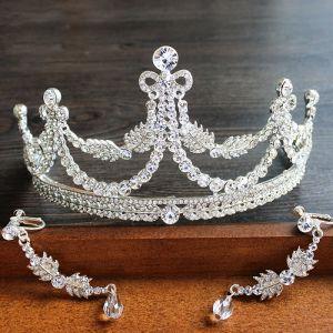 Sparkly 2017 Silver Crystal Rhinestone Metal Tiara