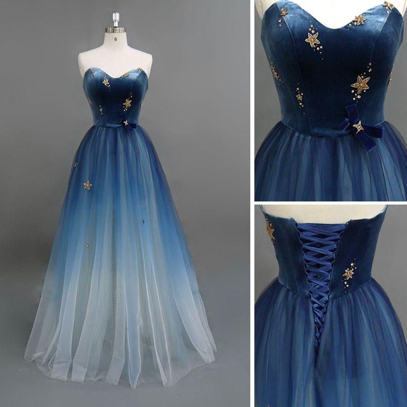 Moderne / Mode Bleu Marine Robe De Soirée 2018 Princesse Daim Amoureux Étoile Noeud Sans Manches Dos Nu Longue Robe De Ceremonie