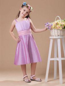 Unique Lilac Taffeta Flower Girl Dress