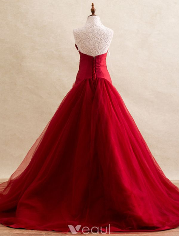 Simple Galajurken 2016 Strapless Backless Burgundy Tulle Long  Galajurk