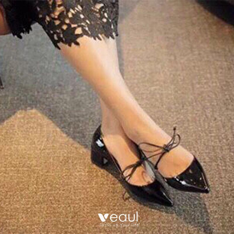 Chaussures 2019 Cuir Femmes Charmant Rendez Noire Vous Verni c5LqAj4S3R