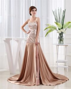 Sweetheart Sleeveless Lace Up Floor Length Paillette Satin Woman Prom Dress