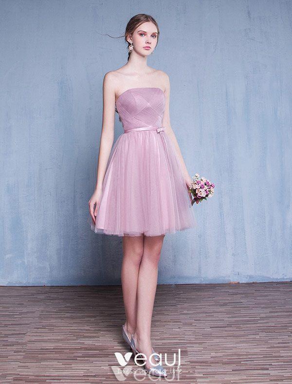 robe de demoiselle d 39 honneur 2016 bustier volants en. Black Bedroom Furniture Sets. Home Design Ideas