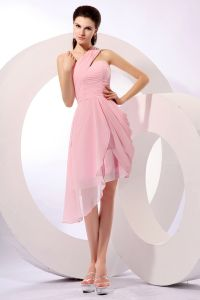 2015 A-line Sleeveless One-shoulder Cocktail Dresses Party Dress