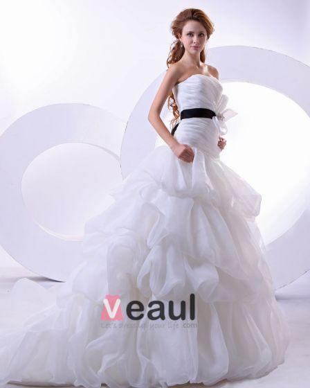 hilo de satén sin mangas de los vestidos de novia novia catedral de