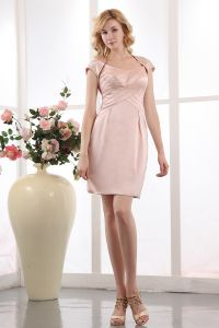 2015 Short Satin Beading Mother Of Bride Dress