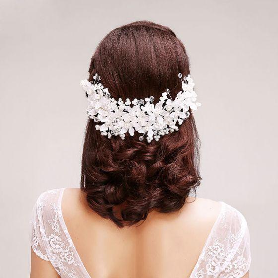 Spitze Rhinestoneblumenperle Der Brautoberteile / Kopf Blume / Haarschmuck Braut / Hochzeitsschmuck