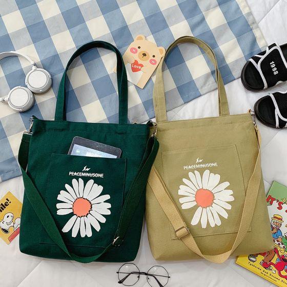 Schön Quadratische Umhängetasche Handtasche Schultertaschen 2021 Segeltuch Freizeit Damentaschen