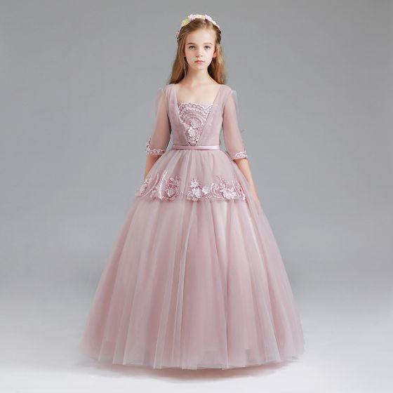 1b45fc23e Vestidos de fiesta para ninas rosa clara - Vestidos populares europeos
