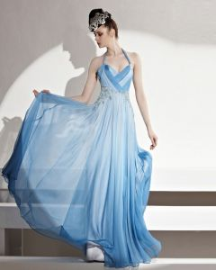 Formal Halfter Bodenlangen Bördelnder Gefalteter Tencel Frauen Abendkleid