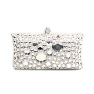 Acrylic Rhinestone Fashion Square Box Evening Bag Hand Bag Clutch Bag