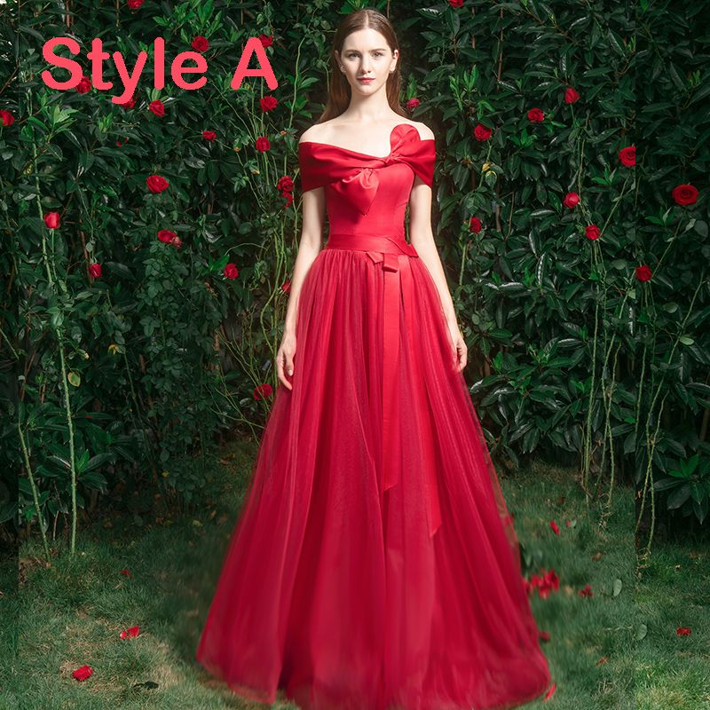 Elegant Red Bridesmaid Dresses 2019 A-Line / Princess Appliques Lace Beading Floor-Length / Long Ruffle Wedding Party Dresses