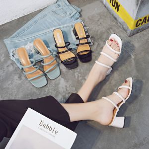 Discount Summer Casual Womens Sandals 2018 5 cm Thick Heels Open / Peep Toe Sandals