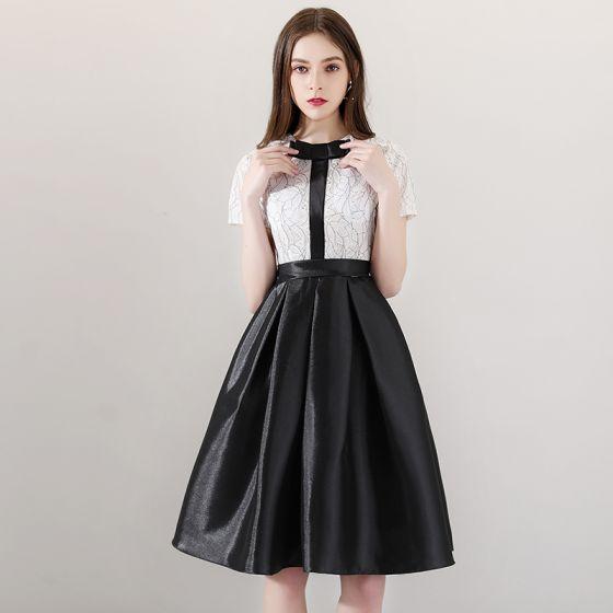 vita korta studentklänningar