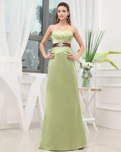 Sweetheart Perlen Bodenlange Ärmellos Reißverschluss Charmeuse Frau Abendkleid